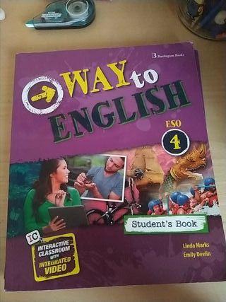 Libros Inglés Way To Wnglish 4 ESO Student y Workb