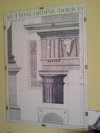 Lámina de Arquitectura clásica