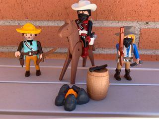 Playmobil trio de forajidos del oeste