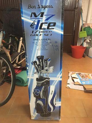 17 palos de golf con bolsa de transporte