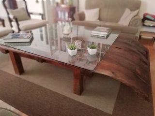 Mesa baja salón con trillo
