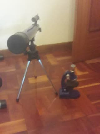 telescopio y miroscopio