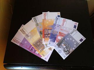 Facsímil de los billetes de euro