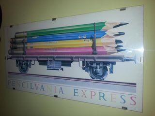 Lámina de lápices con metacrilato
