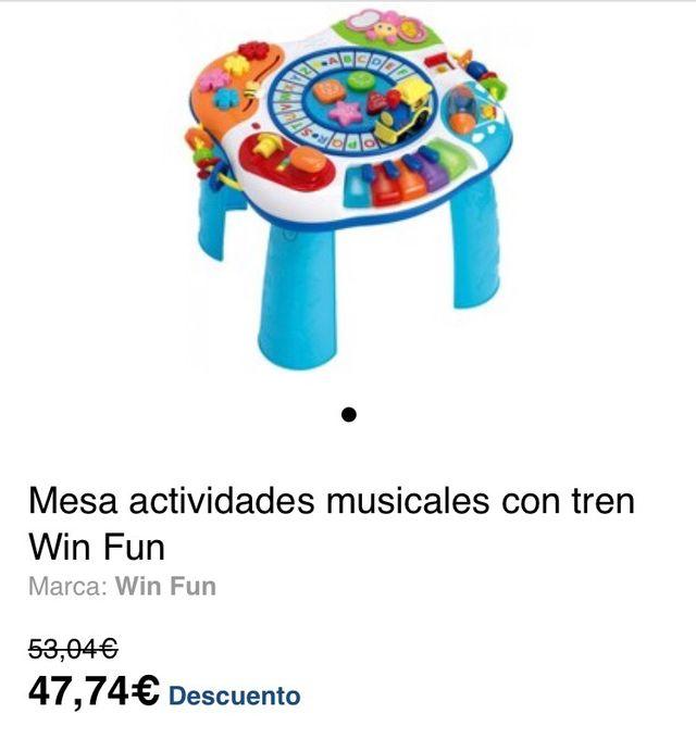 Mesa actividades musical