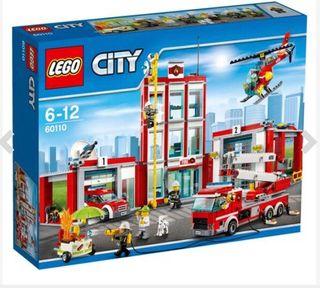 Estación de bomberos de Lego