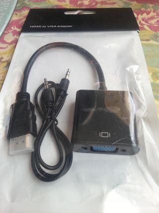 Cable adaptador Splaks HDMI a VGA y audio_Nuevo