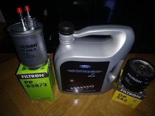 aceite más filtros de combustible y aceite