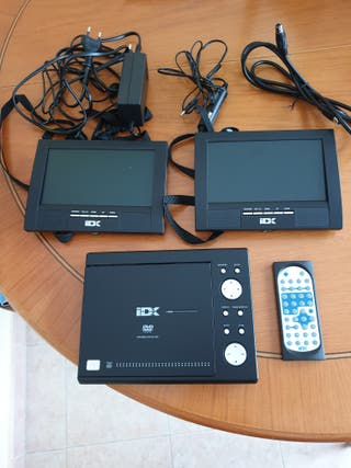 Vendo reproductor DVD portátil ,doble pantalla 7''