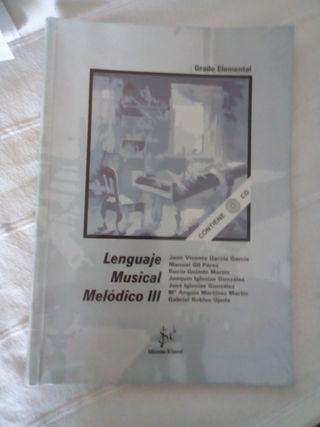 Libro Lenguaje Musical Melódico III. Sibemol