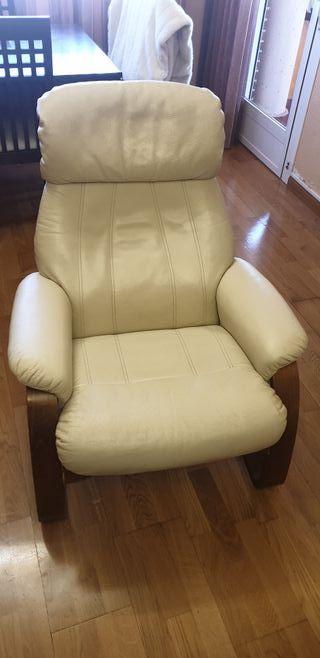 sillón piel reclinable