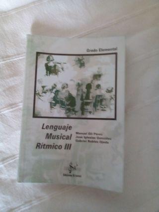 Libro Lenguaje Musical Rítmico III. Sibemol