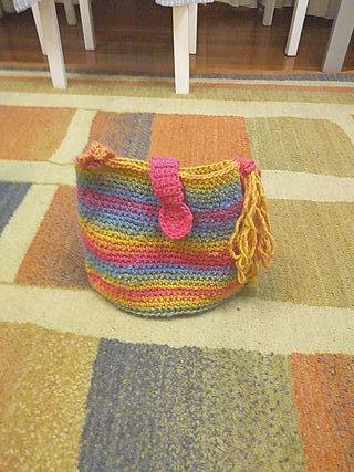 bolso multicolor ganchillo