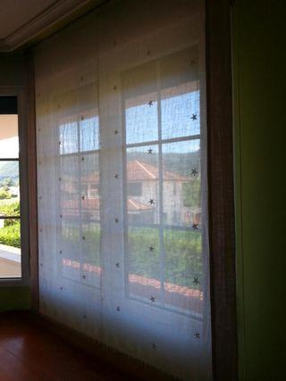 Estor de tela de lino para puerta de 90x250cm