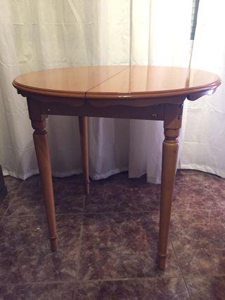 mesa de pino extensible