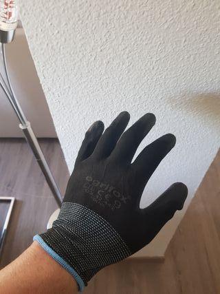 lote 24 pares de guantes de seguridad negros