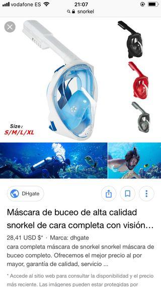 4017932d4 Snorkel máscara de segunda mano en WALLAPOP