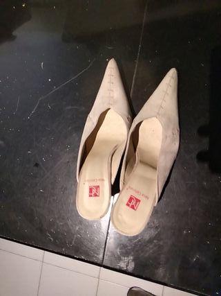 zapatos de tacon de piel vintage
