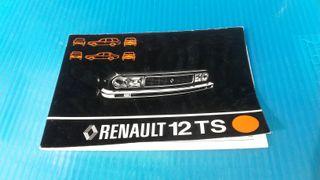 Manual de usuario Renault 12 ts