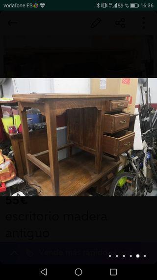 escritorio de madera clasico vintage