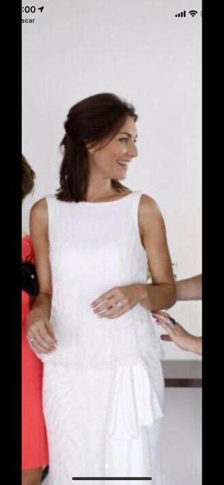 9c9e39cf7 Vestido de novia Rosa Clara de segunda mano en Madrid en WALLAPOP