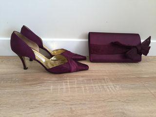 "Zapatos y bolso fiesta ""Pilar Burgos"""