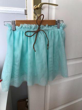 Falda verde agua