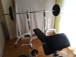 Banco de pesas+Juego de pesas completo