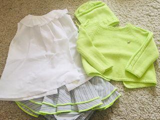 Conjunto blusa, jersey y bombacho niña