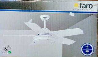 Ventilador techo Bristol Marca Faro blanco
