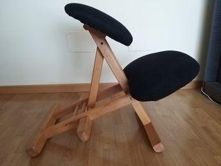 Silla ergonomica de madera