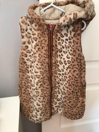 Chaleco piel leopardo