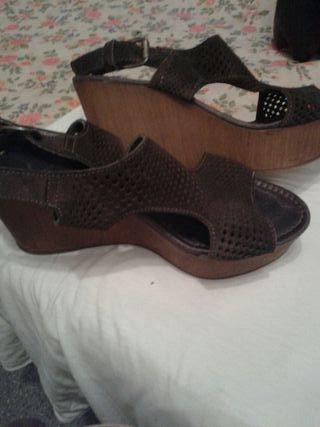 zapato verano piel calado