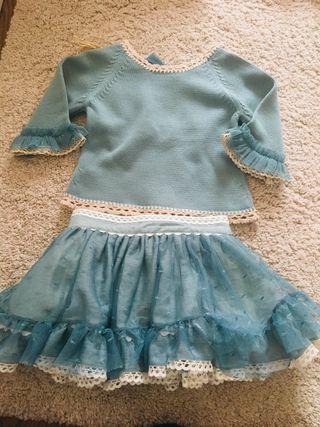 Conjunto falda y jersey niña Lolittos