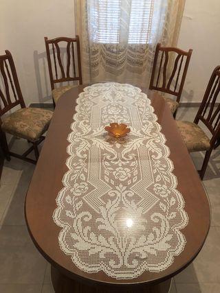 Mesa grande + 6 sillas
