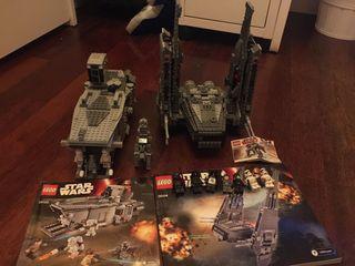 Lego Star Wars: 2 naves grandes y 1 p, 11 muñecos