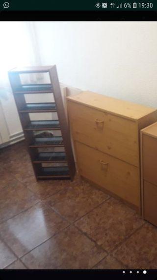 zapatero y mueble para cd