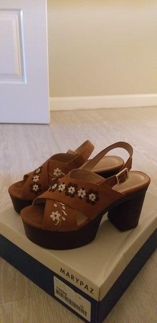 zapatos zueco sandalia una puesta número 38
