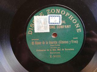El husar de la guardia. Disco pizarra gramófono