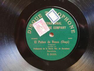 El puñao de rosas. Disco pizarra gramófono.