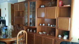 conjunto mueble salón y mesa con 6 sillas