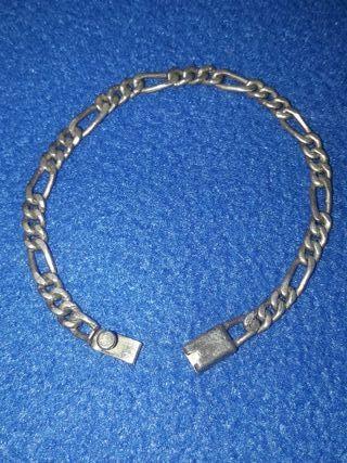 pulsera plata vintage eslabón cartier