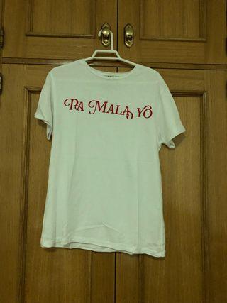 Camiseta basica con mensaje