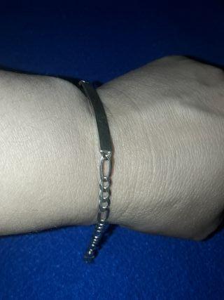 pulsera esclava de plata eslabón Cartier