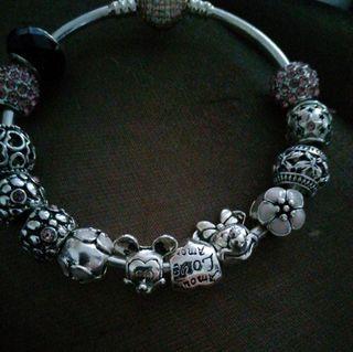 Genuine Pandora Disney Charm Bracelet