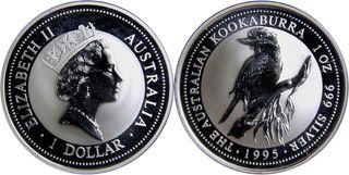 1 Dollar - Elizabeth II Australian Kookaburra