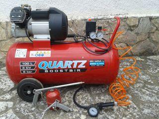 Compresor de 3 HP con calderin de 100 litros