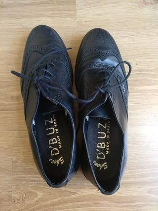 Zapato piel negro made un Spain Oxford talla 40
