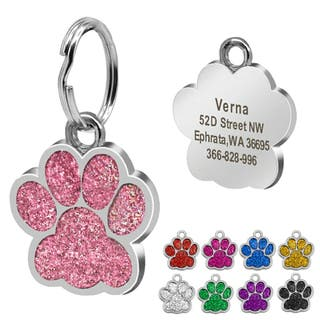 Chapas insignias grabadas mascota perro