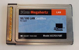 CardBus LAN Ethernet PC Gard 3CCFE575BT